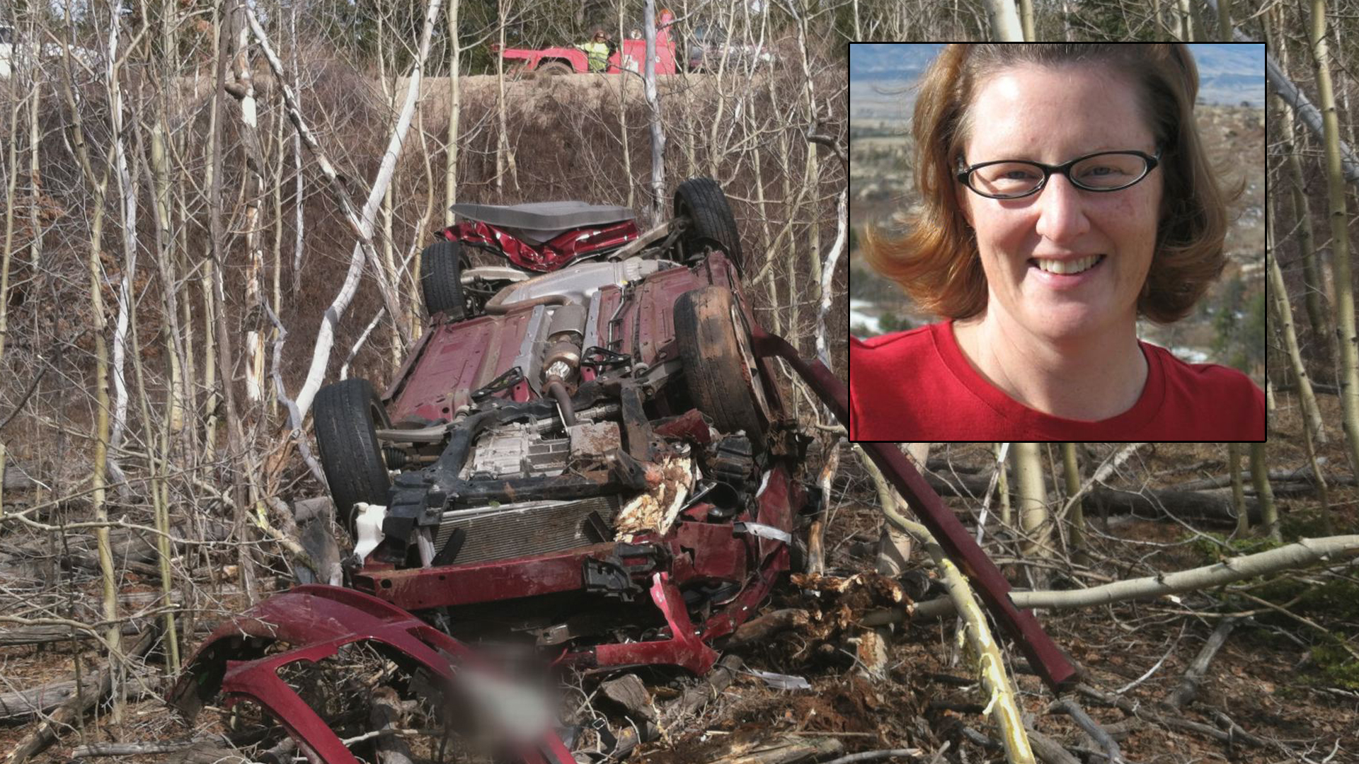 Woman found alive in wrecked car in 'fair' condition