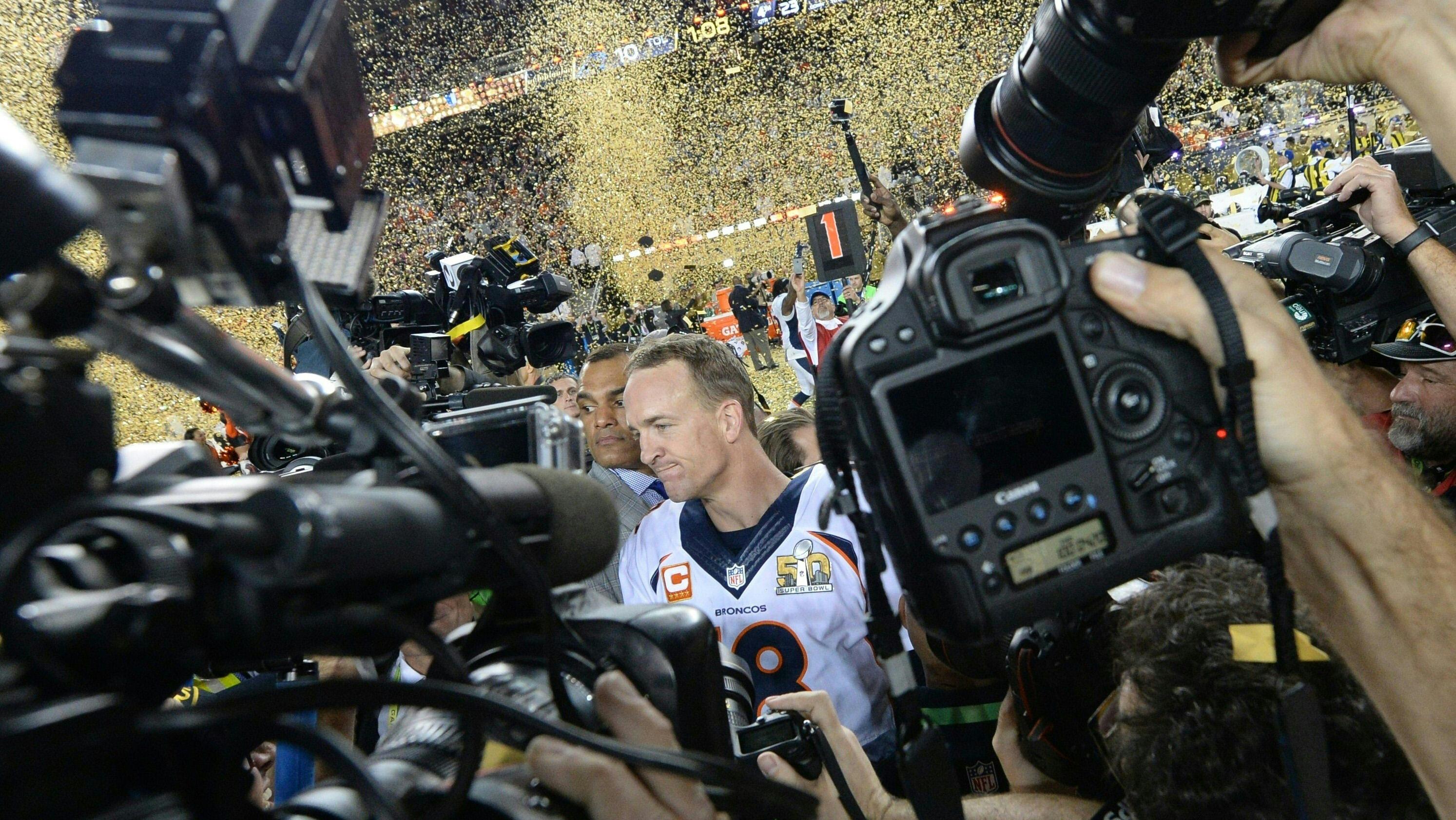 NFL Jersey's Mens Denver Broncos Peyton Manning Pro Line White Player Jersey