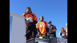 Broncos players at celebration parade