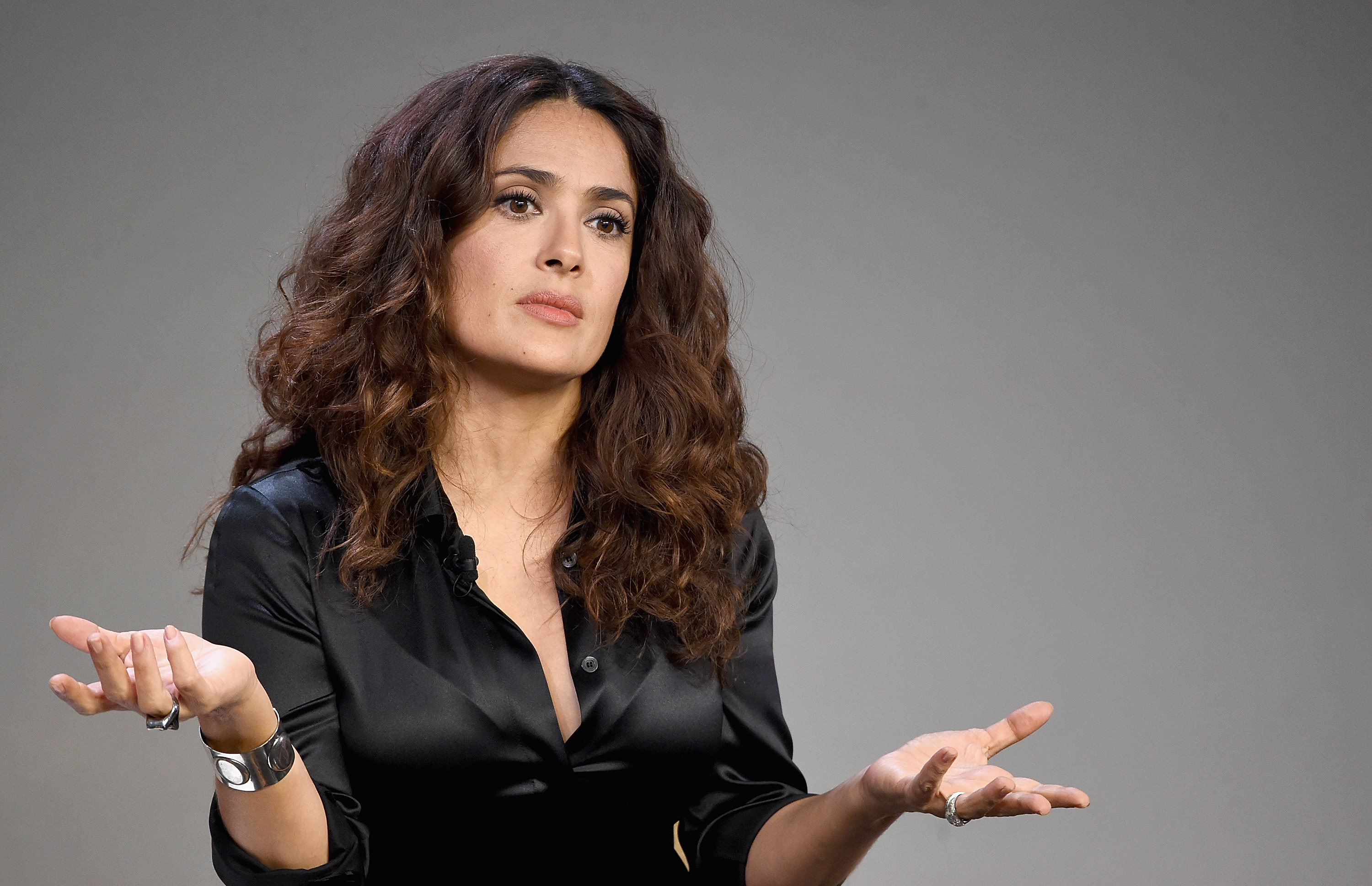 Salma Hayek's dog shot dead