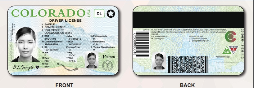 New design coming for colorado driver 39 s licenses for Colorado department of motor vehicles driver s license northglenn co