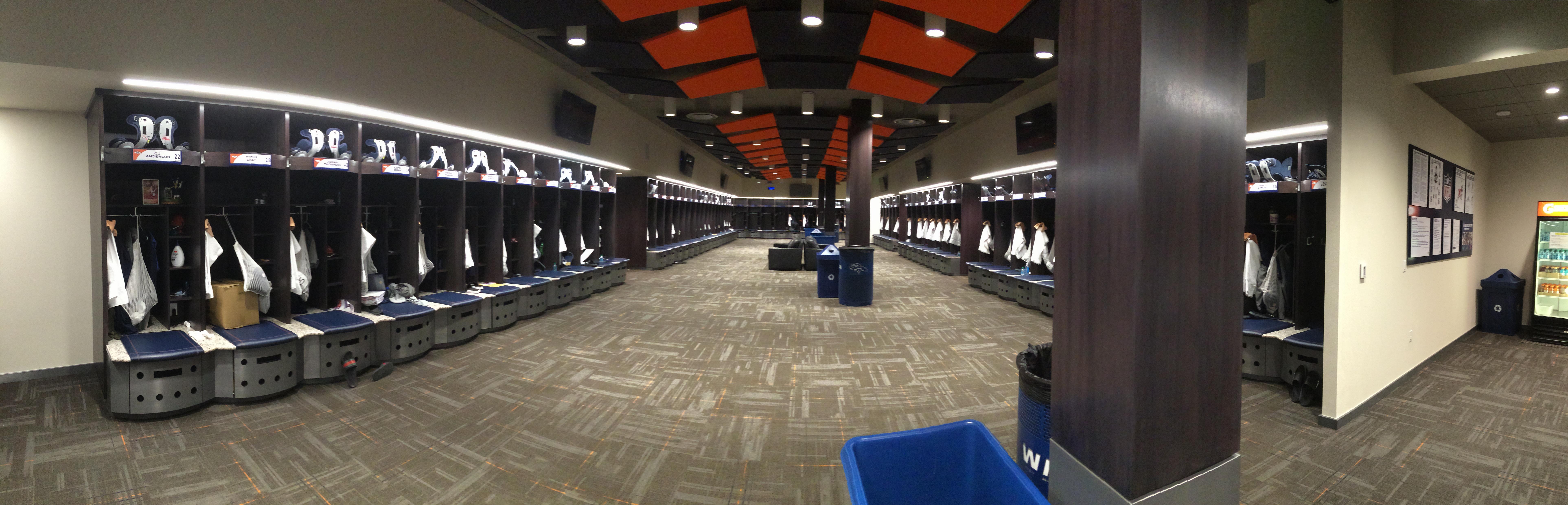 Broncos locker room a million dollar renovation project