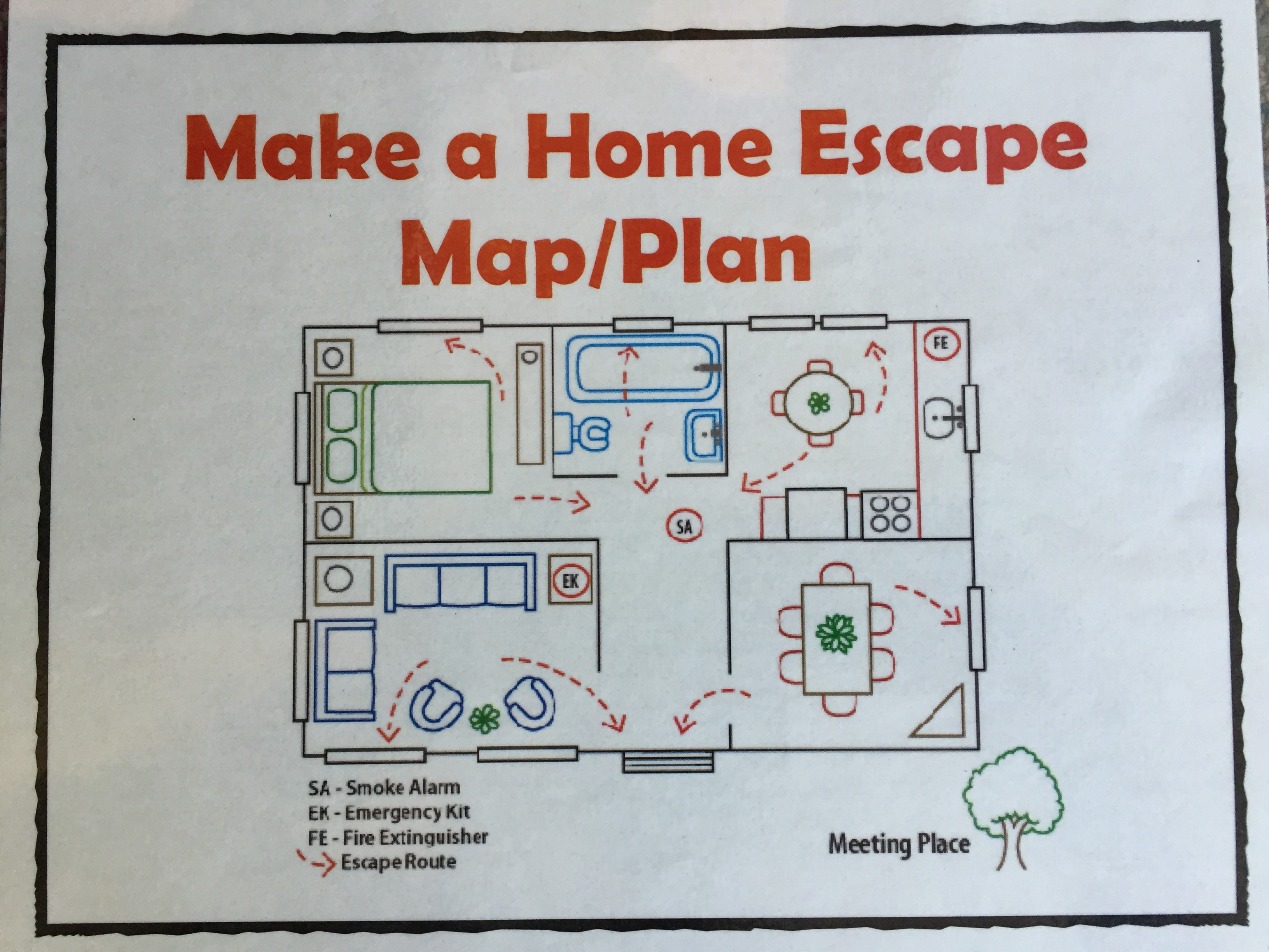 Colorado fire departments encourage fire for How to make a home fire escape plan