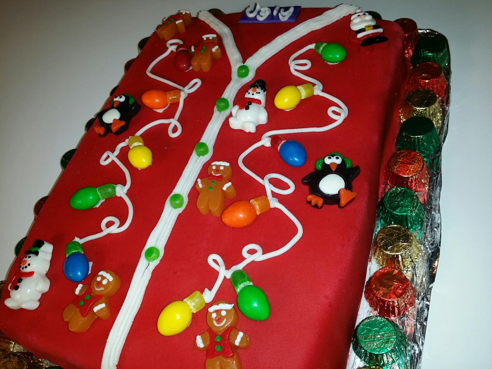 9news Com Recipe Ugly Sweater Christmas Cake