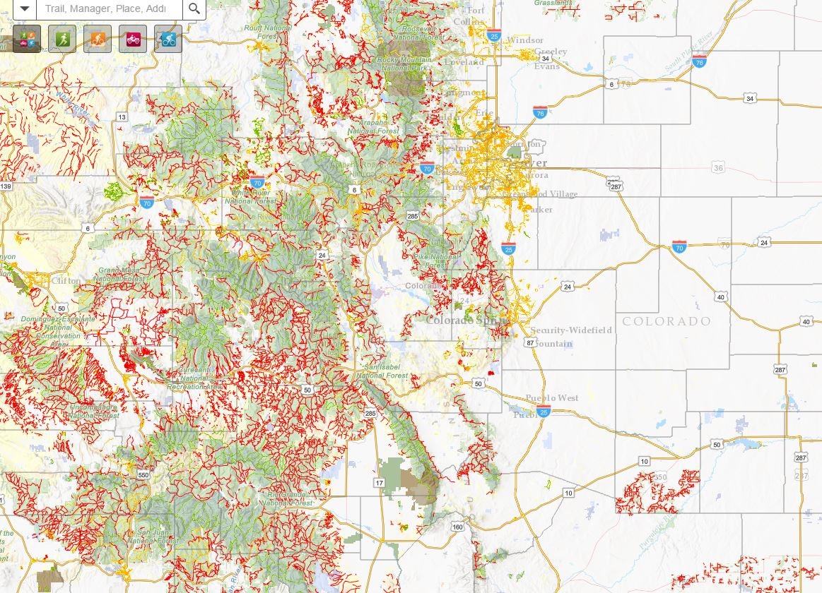 This Map Shows All Of The Trails In Colorado Newscom - Coloradomap